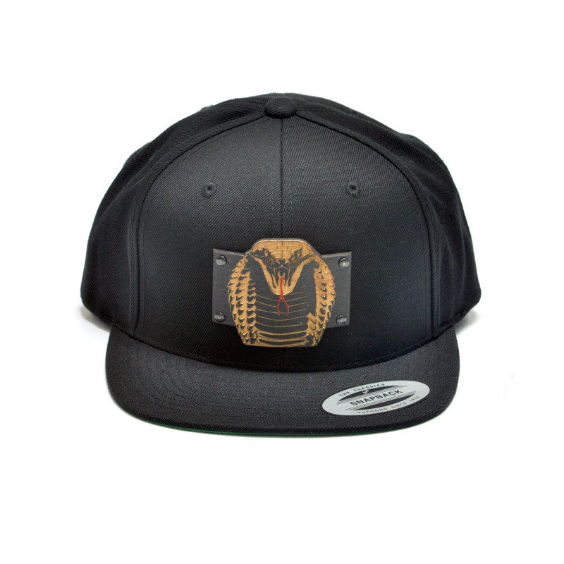 King Cobra Wood Charm Black Snapback Hat