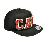 CALI - Red Acrylic letters on Black Snapback Hat