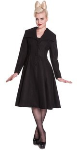 Hell Bunny Sleek & Stylish Black Coleen Coat