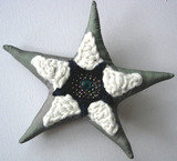 Grey/Black/White Star Brooch