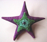 Purple Star Brooch