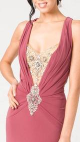 E104 SUPER SULTRY JEWEL GOWN - PINK
