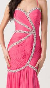 E105 VIBRANT CHIC FORMAL GOWN - FUSHIA