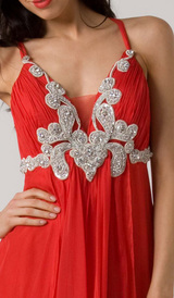 E115 GRACEFUL GODDESS EVENING GOWN - RED