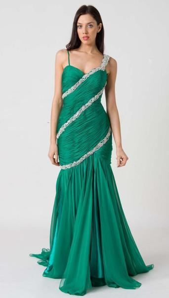 E116 MESMERIZING SWEETHEART FORMAL GOWN - JADE
