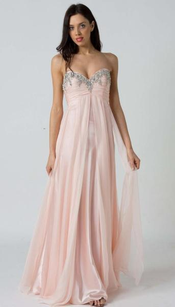 E117 FLOWING GODDESS EVENING DRESS