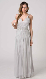 E201 ETHEREAL PRINCESS FORMAL DRESS - SILVER