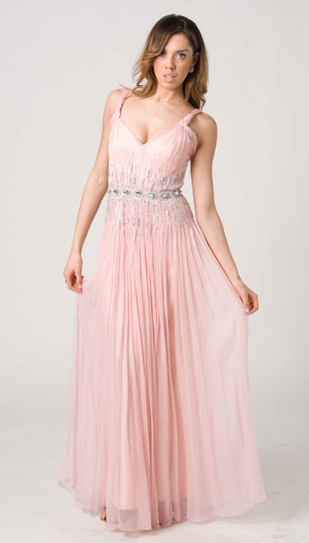 E201 ETHEREAL PRINCESS FORMAL DRESS - PEACH