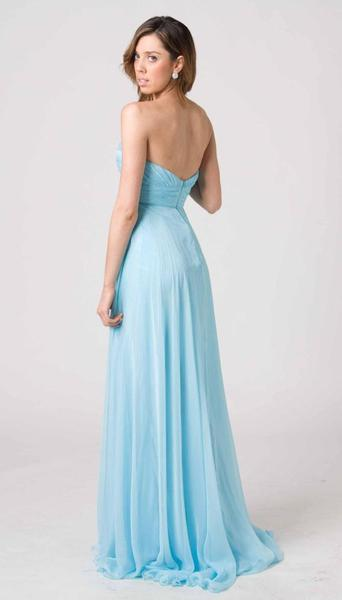 E204 CLASSIC STYLE WITH MODERN FLAIR FORMAL GOWN - TURQUOISE