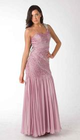 E305 SIMPLE ELEGANCE FITTED EVENING GOWN