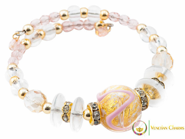 Aida Bracelet - Rose, Gold and White