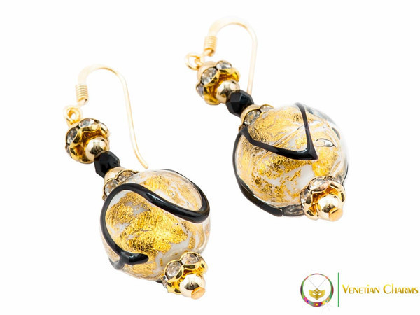 Aida Earrings - Gold & Black
