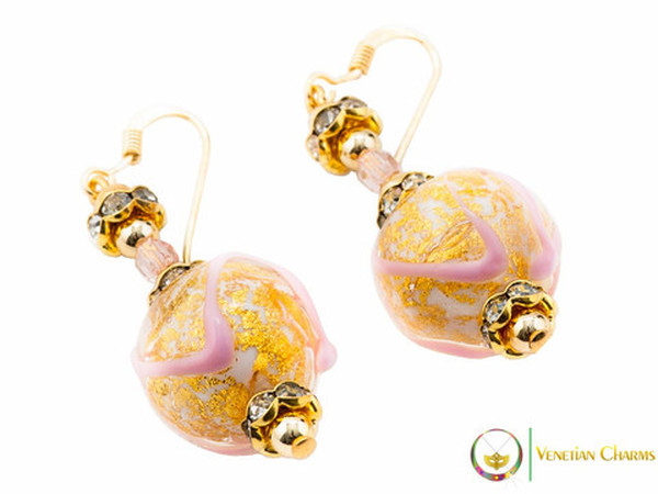 Aida Earrings - Rose & Gold