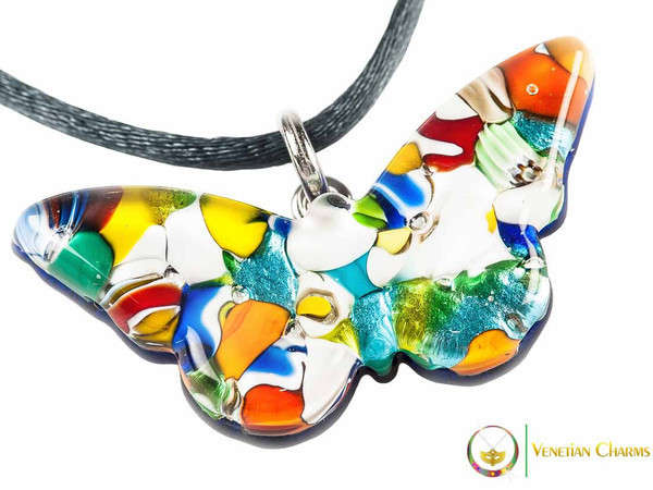 Butterfly Pendant - Multicoloured