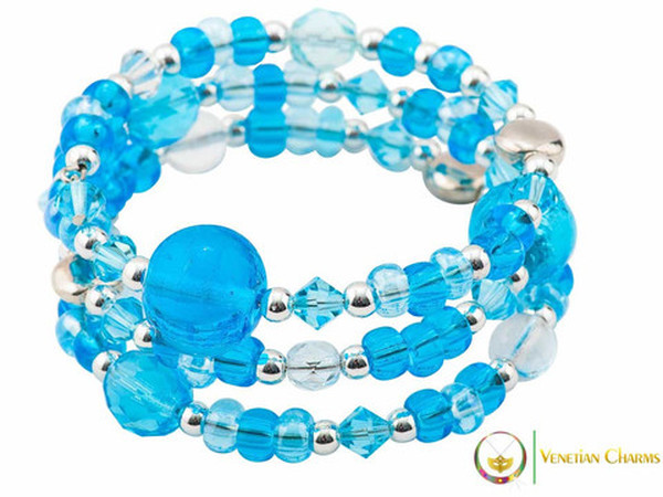 Cheri Bracelet - Blue and Light Blue