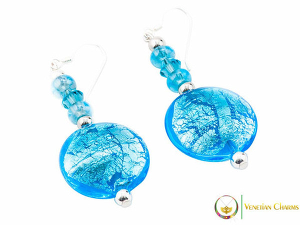 Cheri Earrings - Blue and Light Blue