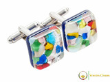 Chrome Cufflinks - Multicoloured