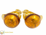Clip Earrings Small - Amber