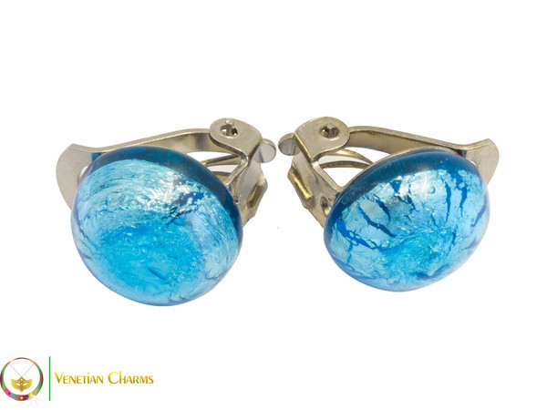 Clip Earrings Small - Blue
