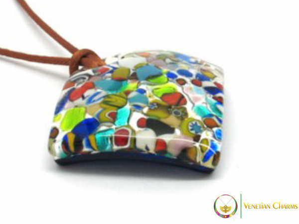 Curved Pendant 40mm - Multicoloured