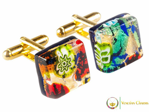 Gold Cufflinks - Multicoloured