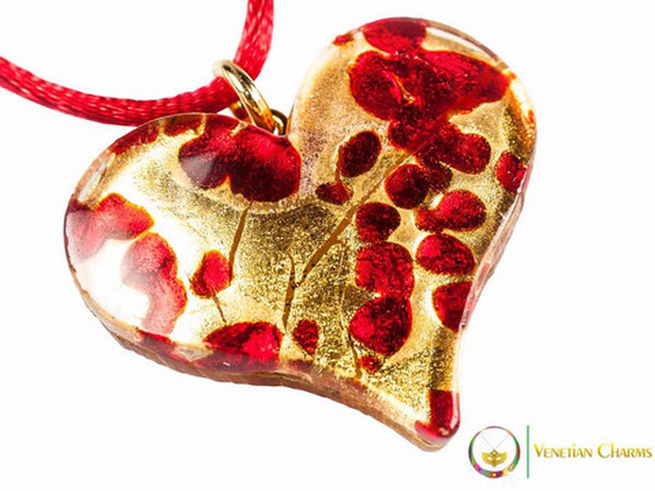 Heart Pendant - Red