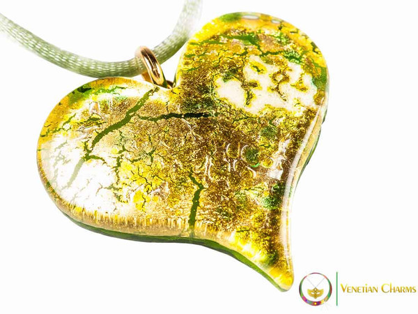 Heart Pendant - Yellow