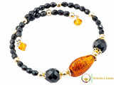 Levante Bracelet - Amber, Gold and Black