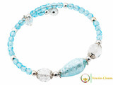 Levante Bracelet - Pale Blue & Clear