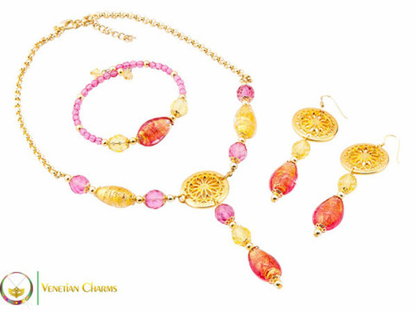 Levante Set - Pink, Gold and Red
