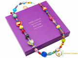 Long Murano Glass Necklace - Multicoloured