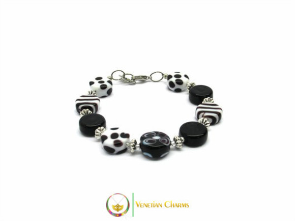 Murano Glass Bracelet - Black