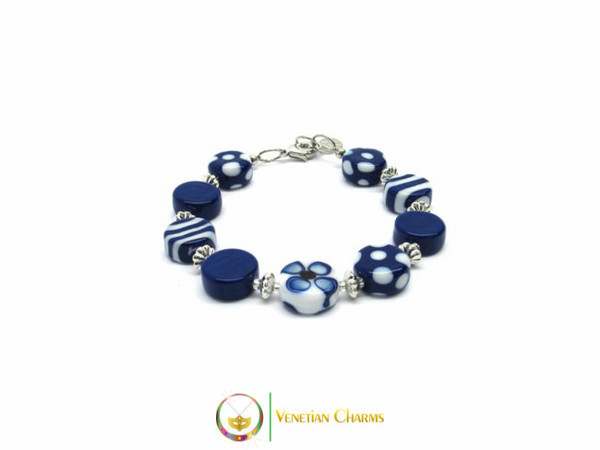 Murano Glass Bracelet - Blue