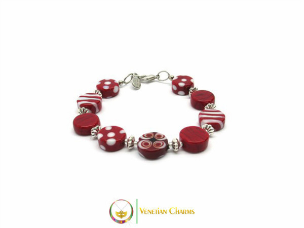 Murano Glass Bracelet - Red