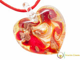 Passione Heart Pendant - Red and Gold