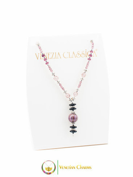 Perlage 2 Pendant Necklace - Pink & Purple