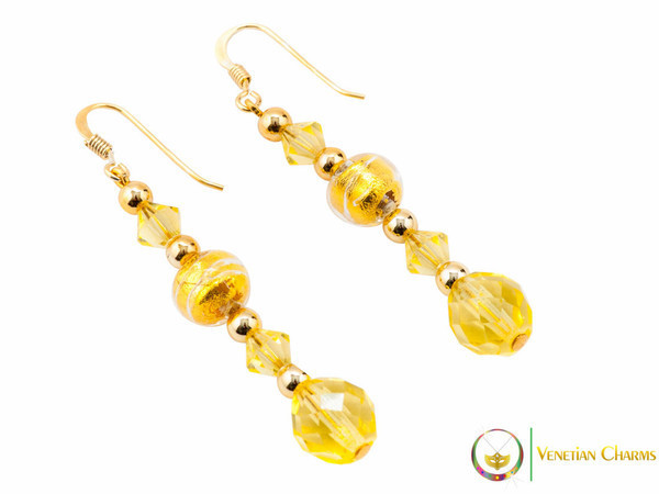 Perlage Earrings - Gold