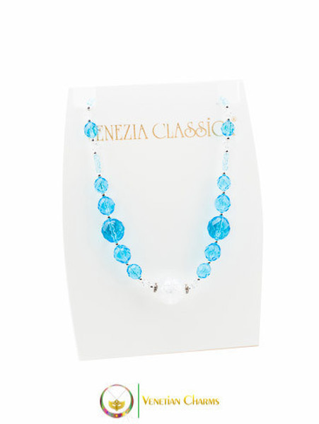 Perlage Necklace - Blue & Clear
