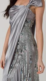 RC110 DELIGHTFUL STAND OUT FORMAL DRESS SILVER