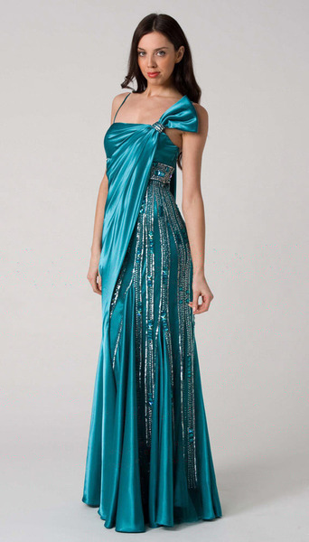 RC110 DELIGHTFUL STAND OUT FORMAL DRESS EMERALD