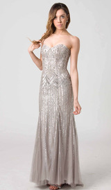 RC201 SPECTACULAR SPARKLY GLAMAZON GOWN SILVER