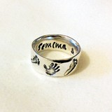 Silver Keepsake Ring, Prints & Name