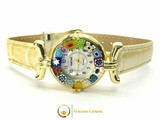 One Lady Gold Murano Glass Watch - Ivory