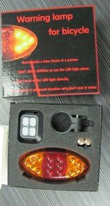 Bicycle Turn Signals LED Laser Bike Lights Wireless Rear Indicator