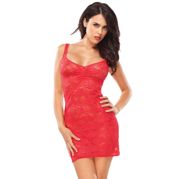 Coquette Kissable Red Lacey Dress