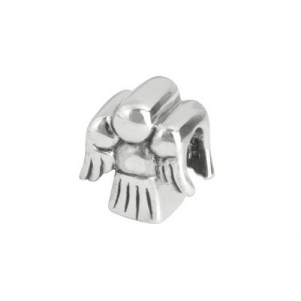 Sterling Silver Oxidised Angel Charm Bead