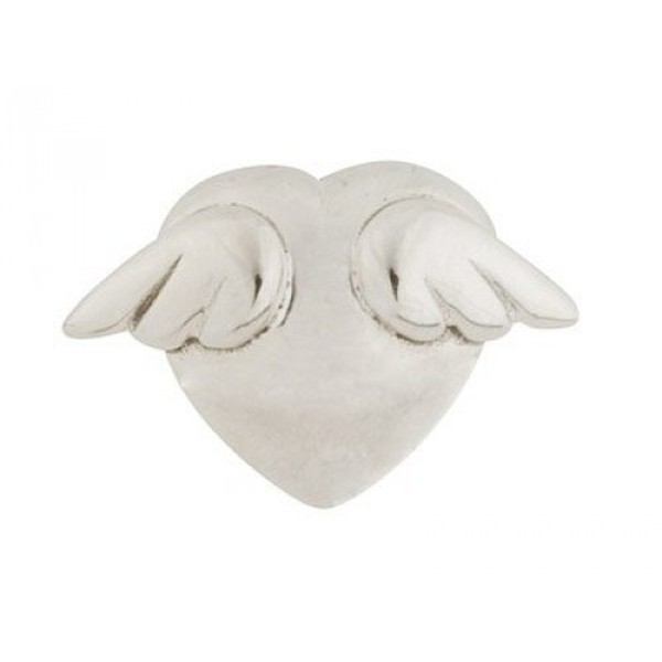 Sterling Silver Winged Heart Charm Bead