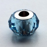 Swarovski Crystal Becharmed Briolette Charm Bead, 5940, 14mm Aquamarine