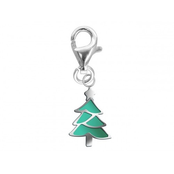 Sterling Silver Enamelled Christmas Tree Charm, Lobster Catch