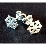Sterling Silver Snowflake Earring Studs